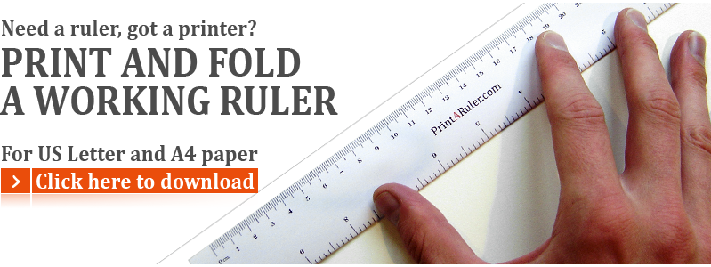 graphic relating to Free Printable Ruler known as Cost-free printable rulers and graph paper